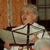 "97/12/11 Sunshine Club - James Neiss Photo - Guest Vocalist Annette Amirian of NF sings ""Besu Bambino"" at the Sunshine Club Christmas Tea at St. Pauls Methodist Church."