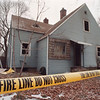 1/24/97 House Fire - James Neiss Photo - Fire tape surrounds  5 B Street where 3 firefighters were hurt.