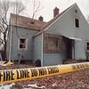 1/24/97 House Fire - James Neiss Photo - Fire tape surrounds  5 B Street where 3 firefighters were hurt.
