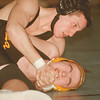 98/01/23--LASALLE WRESTLING--DAN CAPPELLAZZO PHOTO--N.W. KRIS PROIETTI PUTS THE MOVE ON NF'S JOHN CAMPBELL IN THE 140 LBS CLASS. PROIETTI WON THE MATCH 15-0.<br /> <br /> SP.