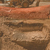 98/08/15- cable unearthed --Takaaki Iwabu photo-- Excavation for the new high school in Hyde Park exposed some cable....<br /> <br /> local, Monday Bw