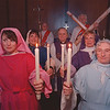 3/24/97 Holy Thursday Service - James Neiss Photo - L-R - Amy Nablo, Lisa Landers, Howard Keiper, Pastor Milan J. Slahor, Jack Morgan, Sally Schoonmaker and Kay Keiper practice for the Holy Thursday Service at the Lutheran Church of the Messiah, in Lewiston.