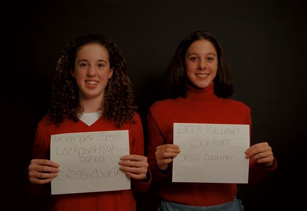 97/12/12 Scott/Mullaney Rachel Naber Photo-Amanda Scott,Lockport, Cross Country/Erin Mullaney, Lockport, Cross Country