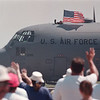 97/10/06--air base--air show goers wave good bye as the air show 97 ends.<br /> <br /> 1a