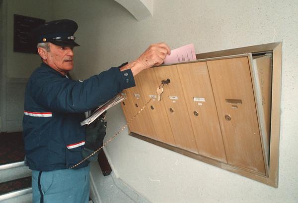 1/31/97 John Ciccarelli - James Neiss Photo - Niagara Falls Mailman for 50 years.