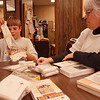 5/19/97--KIDS/RED CROSS--DAN CAPPELLAZZO PHOTO--RED CROSS COORDINATOR LAUREL BEAUDREAU GOES OVER A FIRST AID KIT WITH  12-YR-OLD FRANK KIMBALL, OF NF, AT RED CROSS HEADQUARTERS, ASHLAND AVE.<br /> <br /> FEATURE THURS