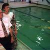98/05/14 Aquatic Fame-Rachel Naber Photo- (left to right) Albert Cooper and Virginia Mulvey will be honored with a place on the YMCA's Aquatic wall of fame for ther years of service to the organization.