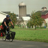 98/08/10 Bicyclist *Dennis Stierer Photo -<br /> Bicyclist, Chris Huber is traveling across country from Oregon to Maine and stopping along the way to raise awareness for the National Sports Center for the Disabled out of Winter Park, Colorado.