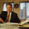2/20/97-- fbi --Takaaki Iwabu photo-- Paul M. Moskal, supervisory special agent/chief divison counsel at FBI, works at his office in Buffalo. (he involved in FBI's in-house investigation.... for Sunday topic)
