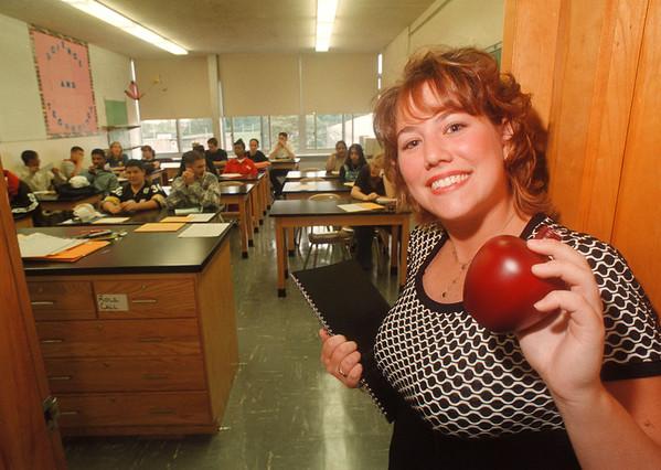 97/09/03 Carla Swartz- James Neiss Photo - Ms. Carla Swartz is a 1991 LaSalle HS graduate returned as a 10th grade Biology teacher.