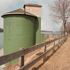 3/15/97-- Silo --Takaaki Iwabu photo--  The silo on Lewiston Landings is possible site of new restaurant--- for story on resident's concern....<br /> <br /> Monday, 3A, bw