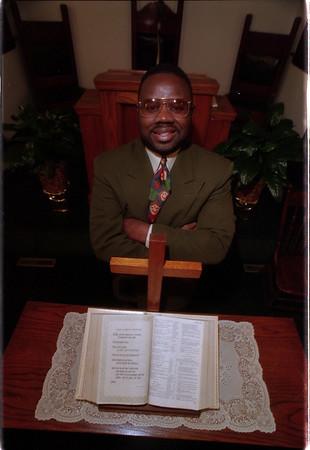 98/02/10 Rev. Tony Benson - James Neiss Photo - Rev. Tony Benson, pastor of Grace Calvery Church.