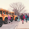 2/26/97--NIAGARA MIDDLE SCHOOL--DAN CAPPELLAZZO PHOTO--STUDENTS MAKE THEIR WAY TO BUSES AFTER DISSMISSAL.<br /> <br /> ECHO MIRROR