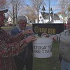 98/11/03 Veterans's Day Gate *Dennis Stierer Photo -<br /> The VAW Local 686 Veteran's Committee will conduct it's annual Veteran's Day Gate Collection on Friday, Nov. 6th at Delphi Harrison Thermal Systems. Starting early are Art Braunscheidel, chairman of the Veteran's Committee;  Mike Watier, President Amalagated Local 686; and Jim Devereaus, Veteran Committe member.