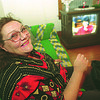 1/5/97--MENTAL HOME 2--CAPPY PHOTO--KELLY A RESIDENT AT  915 FERRY ENJOYS WATCHING OPRA, WHEN ON THE PROPER MEDICATION KELLY IS HAPPY AND LUCID.