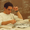 1/24/97 School Reportcard 4 - James Neiss Photo - LewPort Drawing and Painting student Ryan Suitor 17/12 works on a Oil Painting.