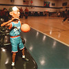 98/02/28-- Falcons 3--Takaaki Iwabu photo--- Falcons' good luck charm is on the bench.....