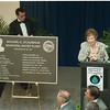 "5/30/97 Water Plant - James Neiss Photo - Donna O'Laughlin, wife of former mayor Michael C. O'Laughlin, speaks to a standing room crowd after the unveiling of the new water plant plaque: ""The Michael C. O'Laughlin Municipal Water Plant.Ó"
