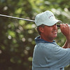 7/25/97--porter cup 1--Takaaki Iwabu photo-- John Harris watches his ball after the tee-shot on 16th hall. He took the lead Friday....<br /> <br /> sports, Saturday, color