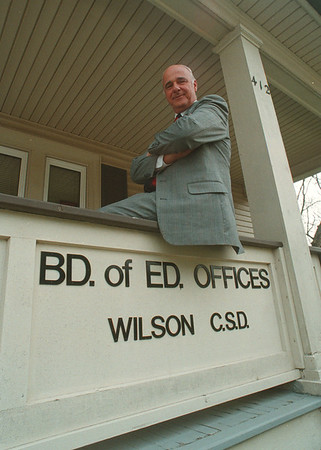 5/16/97 Richard Zipp - James Neiss Photo - Wilson School Board President is retiring.