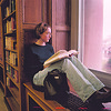 97/11/21--SHOOLS/NF HIGH--DAN CAPPELLAZZO PHOTO--NF HIGH SR NICOLE PAVAN LOOKS OUT THE 2ND FLOOR WINDOW AT NF HIGH, SHE IS HAPPY ABOUT THE NEW SCHOOL SIGHTING  BETTER FACILITIES, BUT IS SAD BEACAUSE SHE WON'T HAVE  A SCHOOL TO COME BACK FOR VISITS.<br /> <br /> 1A FOLDER