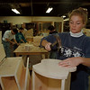 98/11/02 Childrens Toys - James Neiss Photo - Beth Powley, of Lockport, a Union Apprentice, works on toys for the needy. She is part of a Boces program.