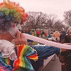 4/20/97--SPRING FLING 2--DAN CAPPELLAZZO PHOTO--HAPPY THE CLOWN BLOWS UP BALLOONS AT THE LEWISTON SPRING FLING.<br /> <br /> ECHO