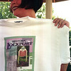 98/05/16 Tee Promo-Rachel naber Photo-Jane Gagliardi shows off the Historic Lockport T-shirt fcurrently for sale.