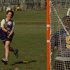 98/04/24--aow mary cutie--dan cappellazzo photo--nu'as mary cutia shoots on goalie kara grooms in practice.<br /> <br /> spo