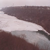 2/23/97-- weather --Takaaki Iwabu photo-- A view of NIagara River, getting ice bridge after cold temparature Sunday.....