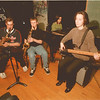 98/03/17 Jazz Concert 2 - James Neiss Photo - Niagara Wheatfield Jazz Ensemble to preform concert at 7pm on March 19, 1998. L-R - Practicing for the event are Paul Bruso 16/11, Brian Trevo 17/11, Kim Speiran 17/12 and Elizabeth Freas 16/11.
