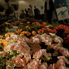 98/04/18-- flower show--Takaaki Iwabu photo-- Visitors pass by in front of one of the flower dispalys at Niagara Region International Flower & Garden Show in Niagara Falls Civic and Convention Center Saturday. The show will last until today (Sunday). <br /> Sunday, local, color
