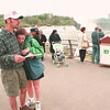 5/25/97--tourism/falls--dan cappellazzo photo--SHAWN GARDINI AND AMY NEAL FROM BATLIMORE, MD. CHECK THEIR MAP AT THE BRINK OF THE FALLS AT PROSPECT PIONT PARK.<br /> <br /> 1A