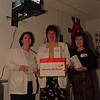 98/12/02 Cardiac Teachers Gift *Dennis Stierer Photo<br /> L-R:  Joanne Hafner, RN;  Darlene Rick, Secretary;  Rebecca Mannella, Nurse Manager.<br /> SEE ATTACHED WRITE-UP.
