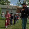 98/06/05 Keep In Step *Dennis Stierer Photo - Greg Thrun (right)  is trying to keep his young troops in step. Playing soldier are Brittany Thrun,8;  Colin Thrun,7;  Connor Thrun,6;   and Sam Pilato,5. They were participating at the Lockport Historical Society Strawberry Festival.