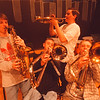 4/10/97 Jim Sikorski Benifit - James Neiss Photo - L-R - Mark Michaelsen 15, Russell Burgstahler 16, Joe Wallace 15 and Paul Piwowarczyk 15 all were friends of fellow Jazz band member Jim Sikorski Who died of cancer in January.<br /> <br /> Niagara Wheatfield Hight School NW