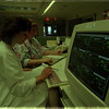 97/01/16 Mt. St. Marys - James Neiss Photo - L-R - Joanne Ross, RN , ICU and Leilani Knapp, RN, Ast. Nurse Cordinator Intensive Care Unit look over charts wile monitoring patients vital signals on there state of the art equipment.