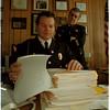 98/12/11 Crime Statistics - James Neiss Photo - Police Chief Ernest Palmer and John R. Chella, Deputy Chief of Police go over crime statistics in the chiefs office.