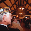 98/11/11 FT NIAGARA VETS--DAN CAPPELLAZZO PHOTO--WWII VET JOHN LUKASIK, OF SIKORA POST, NT LISTENS AS EAST AURORA STUDENTS READ ÒVOICES FROM THE PASTÓ A FICTIONAL ACCOUNT OF WWII VETS AT THE FT NIAGARA OFFICERS CLUB.<br /> <br /> LOCAL
