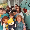 5/21/97-- puppets --Takaaki Iwabu photo-- Members of Heir Force Puppets of Niagara Presbyterian Church, who went to Jamaica. From left, clockwise, Nathaniel McMahon, Andrew McMahon, Karrie Brosseau, Jennifer Stedge, Melanie Greene, Elizabeth Burkley and Ronny Greene. \<br /> <br /> teen page