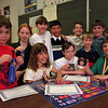98/06/04 Continental Math *Dennis Stierer Photo - <br /> Seated from left are Angela Sandell; Brian Russell; and Anthony Weiland. These three won First Place Nationally.<br /> Surrounding them are from left; Matthew Evans; Eileen McIver; Michael Stanton; Michael Witmer; Robert Chatt; and Joathon Campbell.<br /> Kathleen OByrne missed one name on the standing list!!!!!!!<br /> SEE ATTACHED INFO SHEET ALSO.