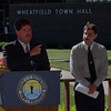 7/29/97 Cable Switch - James Neiss Photo - Vince Laurendi JR. General manager of Adelphia Niagara talks about being the cable provider for Niagara Wheatfield durring a press conferance with Town Supervisor Timothy Demler.