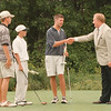 8/13/97--JR GOLF 2--DAN CAPPELLAZZO PHOTO--(LTOR)BRIAN RAJCZAK, 15 OF G.I., RYAN RICHARDS, 12 OF LEWISTON, AND  MIKE BREED, OF NF, 17  GET CONGRATS FROM THE MAYOR AFTER WINNING THE RESPECTIVE GOLF CATEGORIES.<br /> <br /> SP