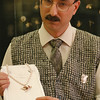 3/13/97--JEWLER--DAN CAPPELLAZZO PHOTO--N.,T. JEWLER _____________ CHARLES (SEE JUDY KAY STORY) SHOWS OFF ONE OF HIS ORIGINAL DESIGNS; AN EVENING WEAR PIN/PENDANT MADE OF GOLD WITH DIAMOND AND PEARL ACCENTS.<br /> <br /> FEATURE