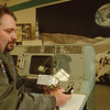 99/1/4 Space Console - Vino Wong Photo - Mark Caterina shows the new display of the new Appolo 13 console at the museum in Summit Park Mall Monday.