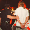 97/08/29 DWI 3--Takaaki Iwabu photo-- Unidentified man was arrested for DWI on Center Street Thursday. <br /> <br /> local, Saturday, bw