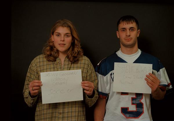 97/12/12 Goodman/Kowalik Rachel Naber Photo-Christie Goodman,Wilson Central,Soccer/Steve Kowalik,Grand Island,Football