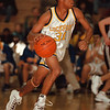 98/12/04 Lockport Basket 1 - Vino Wong Photo - Lockport High School Shaun Maxwell makes a run during the third quarter of the game against St. Joseph Friday.