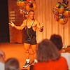 5/31/97--teen day--Takaaki Iwabu photo-- Michael V. McCloud, pro natural bodybuilder, talks to the participants of Teen Day at Niagara University Saturday. <br /> <br /> Sunday, local, bw