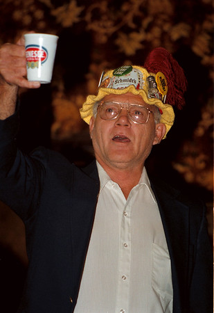 98/10/03 Oktoberfest2-Rachel Naber Photo-Don Lane of Cambria sings at the opening of the Oktoberfest at the American Legion in Niagara Falls.